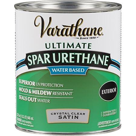 Rust-Oleum 250241H Ultimate Spar Urethane Water Based, Quart, Satin Finish