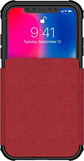 Ghostek Exec Leather Flip Card Case Wireless Charging Compatible with iPhone XR – Red