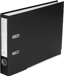 Bindertek 2-Ring 2-Inch Premium Linen Textured Top File Binder, For Top-Punched Paper, Black (TFSLN-BK)