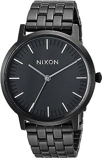 Nixon Men's Porter 35 Japanese-Quartz Watch with Stainless-Steel Strap, Black, 16.8 (Model: A11981420)