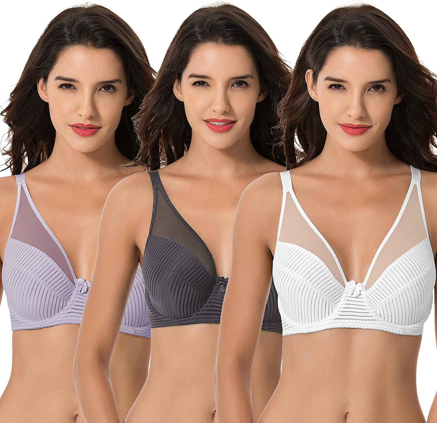 Curve Muse Women's Plus Size Louisville-Jefferson County Mall Underwire Full Unlined Minimizer Max 60% OFF Co
