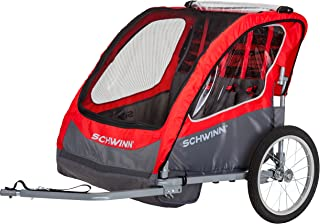 Schwinn Caribou Double Bike Trailer with Quick-Release Wheels, 16