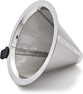 Apace Pour Over Coffee Filter - Reusable Stainless Steel Drip Cone Coffee Dripper - Paperless Strainer for Chemex and Other Coffee Makers