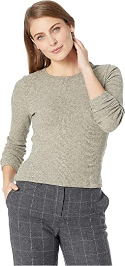 Brushed Ribbed Long Sleeve Top