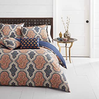 azalea skye rhea orange duvet cover set