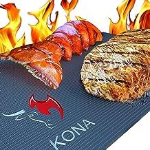 Kona Best BBQ Grill Mat - Heavy Duty 600 Degree Non-Stick Mats (Set of 2) - 7 Year Warranty (Renewed)