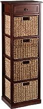 Southern Enterprises Kenton 4-Basket Storage Tower, Brown