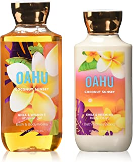 Bath & Body Works Aloha Signature Collection Amazon Exclusive: Body Lotion + Shower Gel with Shea & Vitamin E 2-pair Bundle (Oahu: Coconut Sunset)