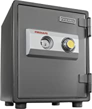 First Alert 2054F 1 Hour Steel Fire Safe with Combination Lock, 0.80 Cubic Foot, Gray
