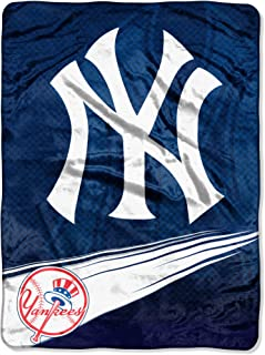 Officially Licensed MLB Speed Raschel Throw Blanket, Soft & Cozy, Washable, Throws & Bedding, 60