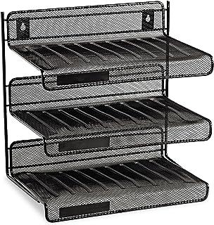 Rolodex 22341 Mesh Three-Tier Letter Size Desk Shelf 10 x 7 x 9 3
