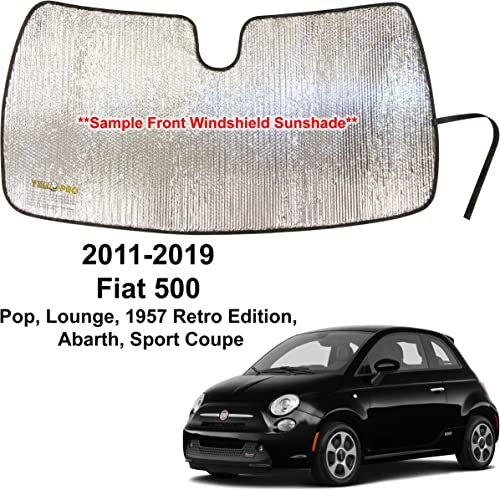 2021 YelloPro online Custom Fit Automotive Reflective Windshield Sunshade Accessories UV Protection for 2011 2012 2013 2014 2015 2016 2017 2018 2019 Fiat 500 Pop, Lounge, Retro, Abarth, Sport, outlet online sale Coupe Convertible online sale