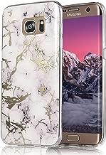 Galaxy S7 Edge Case, COSANO Premium Quality [UV print Semi-transparent Case] for Samsung Galaxy S7 Edge (5.5 inch) Scratch Resistant Shock-Absorbing Case Soft Flexible TPU (White Marble S7edge)