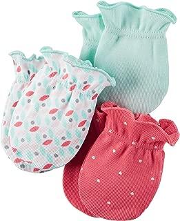 Carters Unisex Baby Mittens (Baby) - Geo/Polka- 0-3M