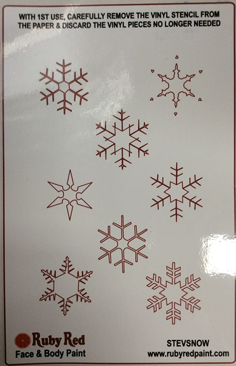 SNOWFLAKE STENCIL by RUBY RED Face Painting Stencil