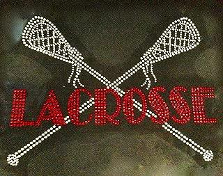 Lacrosse sports Rhinestone Transfer Iron On