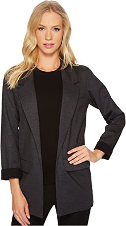 Boyfriend Blazer in Heather Tweed Ponte Knit