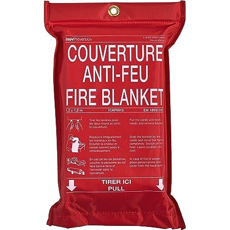 Grande couverture anti-feu pour cuisine /à d/égagement rapide Rouge 1 m x 1 m