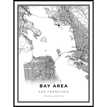 Amazon Com San Franciso Bay Area Laminated Wall Map Posters Prints Click on a dot for more details of the incident. amazon com san franciso bay area
