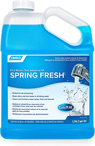 Camco TastePURE Spring Fresh Water System Cleaner and Deodorizer for RV and Marine - Cleans and Freshens Water Lines,...
