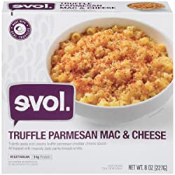 EVOL Truffle Parmesan Mac and Cheese, Vegetarian, Single Serve, 14 Grams of Protein Per Serving, 8 O