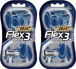 Bic Flex 3 men's shaver, 4 count (2 packs)