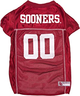 Pets First Collegiate Oklahoma Sooners Dog Mesh Jersey, X-Large