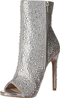 حذاء برقبة حتى الكاحل للنساء من Steve Madden ، فضي، 8