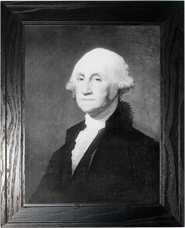 mart George Washington Photograph in a Pine Historical Black Manufacturer direct delivery - Frame