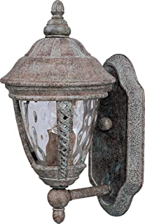 Maxim 3105WGET Whittier Cast 1-Light Outdoor Wall Lantern, Earth Tone Finish, Water Glass Glass, MB Incandescent Incandescent Bulb , 40W Max., Dry Safety Rating, 2900K Color Temp, Standard Dimmable, Glass Shade Material, 6000 Rated Lumens