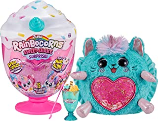 "Rainbocorns Sweet Shake Surprise - 13"" Kitty Cuddle Plush Scented Stuffed Animal - 15+ Layers of Surprises, DIY Slime Mix,..."