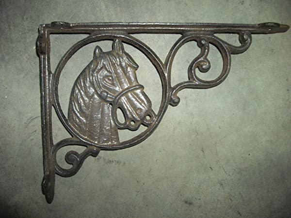 9 Horse Shelf Bracket Cast Iron Shelf Bracket Set Of 2 By Southern Charm Market
