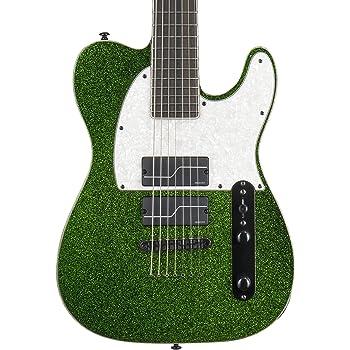 ESP LTD SCT-607 Baritone Signature Series Stephen Carpenter Electric Guitar with Case, Green Sparkle