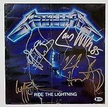 metallica signed album