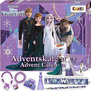 CRAZE Contenu créatif Premium Advent Calendar 24652 l'avent pour Les Enfants 2020 Frozen II Princesse des neiges pour Les ...