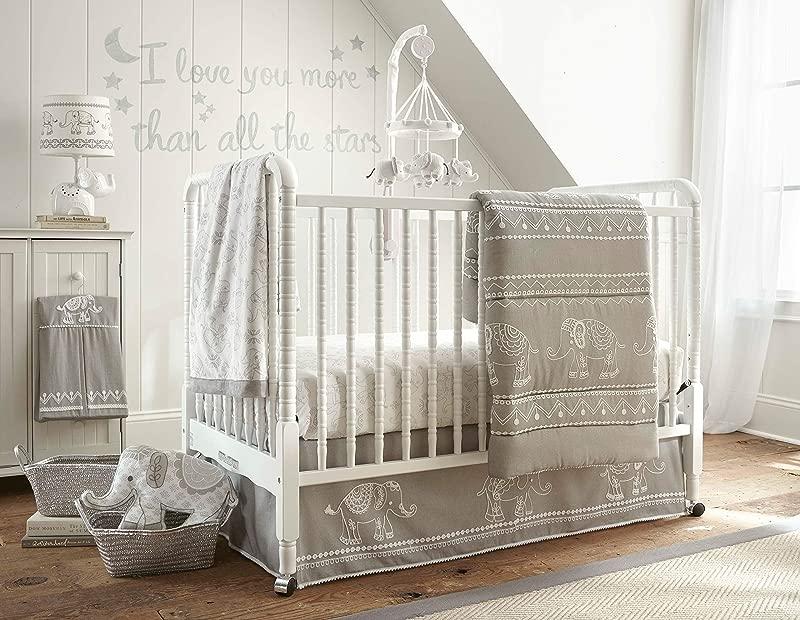 Levtex Home Baby Ely 5 Piece Crib Bedding Set White