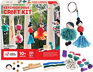 Chalk And Chuckles Art and Craft Keychain Dolls - Make Yourself Activity Kit Age 8+ Unique DIY Set, Gifts for Girls 9, 10,...