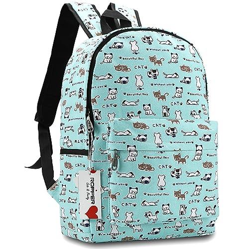 Ropper Lightweight Canvas Cute Pattern Kids School Backpack bc7da79fa3bd6