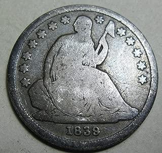 1839 O silver Seated Dime Good