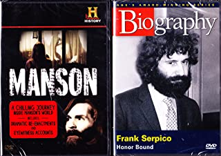 The History Channel : Manson , Biography Frank Serpico : Famous Cops and Criminals 2 Pack
