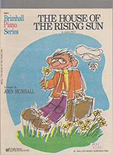 The House of the Rising Sun ; Vocal Piano Guitar
