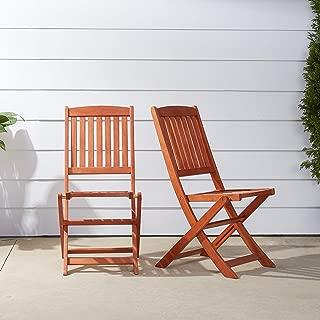 VIFAH V04 Outdoor Wood Folding Chair, Set of 2