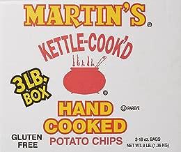 Martins Potato Chips Kettle Cooked Potato Chips, 3 Pound