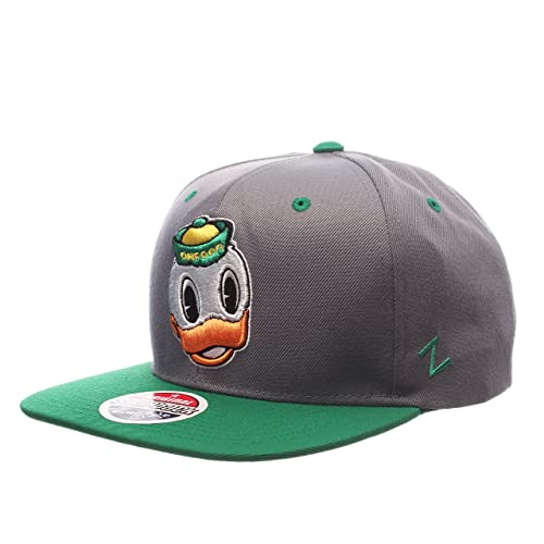 brand new bf8a9 bed04 Zephyr NCAA Oregon Ducks Men s Z11 Slate Snapback Hat, Grey Green,  Adjustable