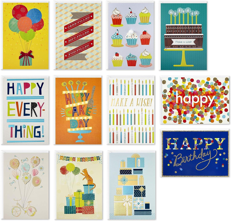 Hallmark Handmade Birthday Cards Minneapolis Mall Assortment 12 Day Cake High material Happy