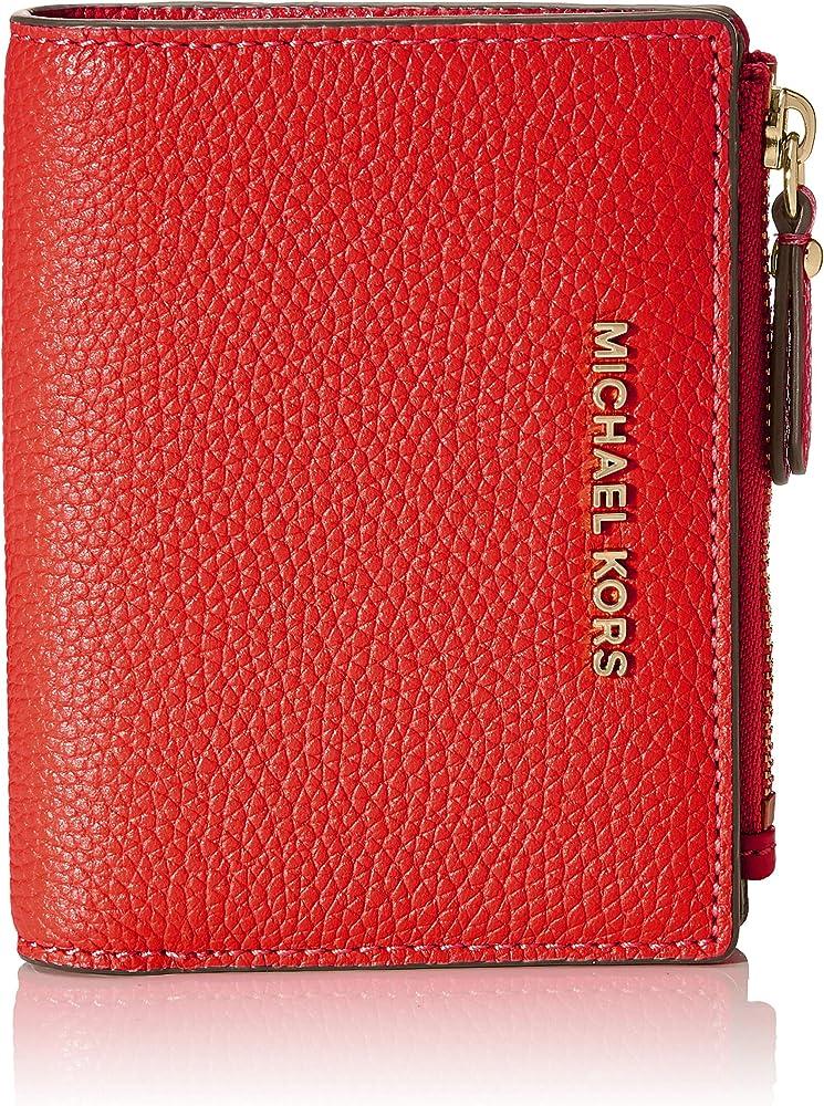 Michael kors jet set md snap billfold, portafogli, porta carte di credito per donna, in pelle 34F9GJ6F2L