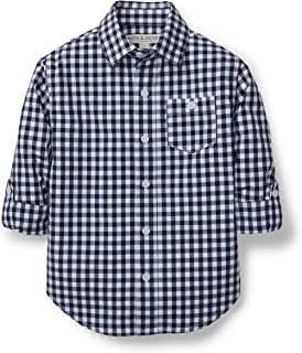 gingham collared shirt