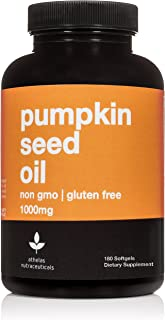 Pumpkin Seed Oil 1000mg - Non-GMO Premium Cold Pressed Prostate and Urinary Tract Support - Bladder Regulation and Control - Softgel Capsules Supplement - 180 Capsules