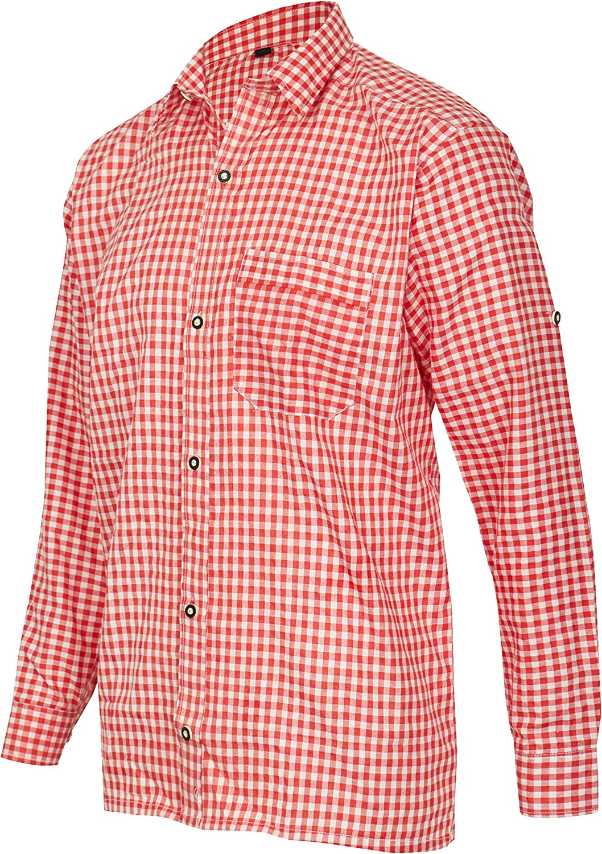 MS-Trachten Camisa Tradicional de Hombre