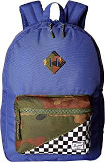 Herschel Supply Co. Kids Unisex Heritage XL (Youth) Deep Ultramarine/Checker/Woodland Camo One Size